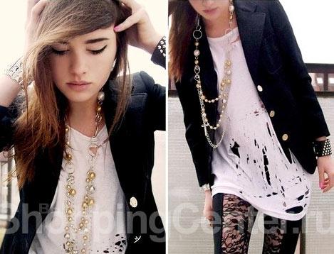 Молодежная одежда в стиле гранж, фото.