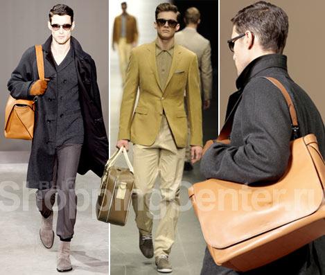 Модные мужские сумки, фото: оранжевая сумка Louis Vuitton из мягкой кожи...