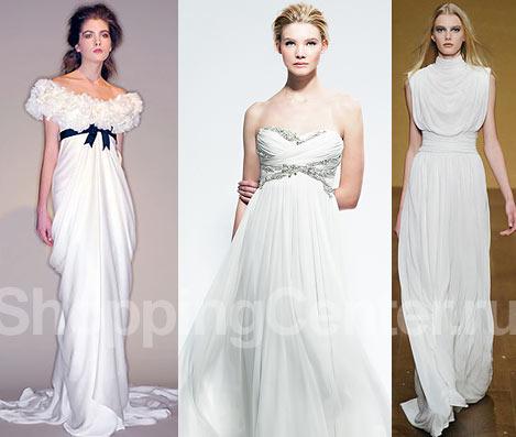Модные свадебные платья в греческом
