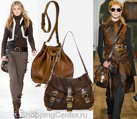 На фото модные женские сумки 2012: сумка Ralph Lauren, кожаная сумка...
