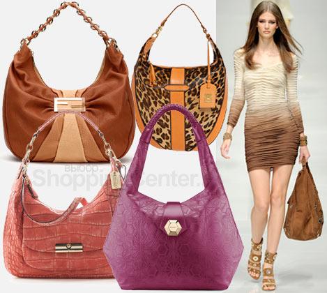 Яркие сумки с цветочными принтами.  Модные сумки - хобо.