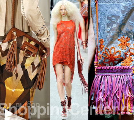 На фото модные женские сумки 2012: сумка с кистями Emilio Pucci, модель...