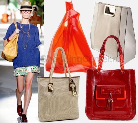 На фото модные женские сумки 2012: модель с сумкой Dsquared2...