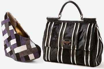 На фото Мода Зима 2010, Осень 2009 : сумка и туфли Christian Lacroix.