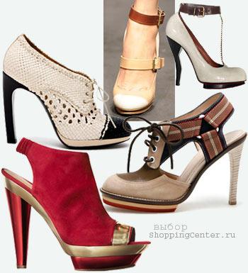 Мода 2010 Лето. Модная обувь, туфли