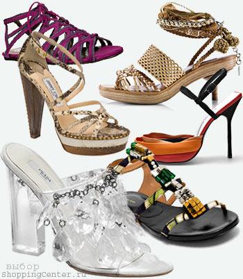 Мода 2010 Лето. Модная обувь, туфли и босоножки