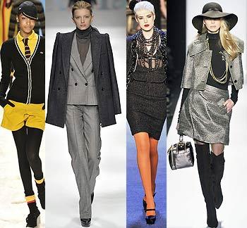 Модный стиль Зима, Весна 2009 Классические серые оттенки предполагают...