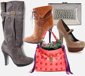 Мода.  Зима 2010 Модная обувь, сумки.