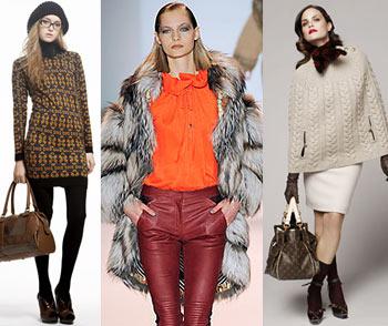 Мода 2010 Зима Женская одежда, фото. Модные тенденции, модный цвет