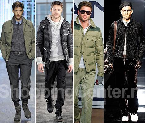 Мужская одежда - 2012, фото: стиль милитари Banana Republic, куртка...