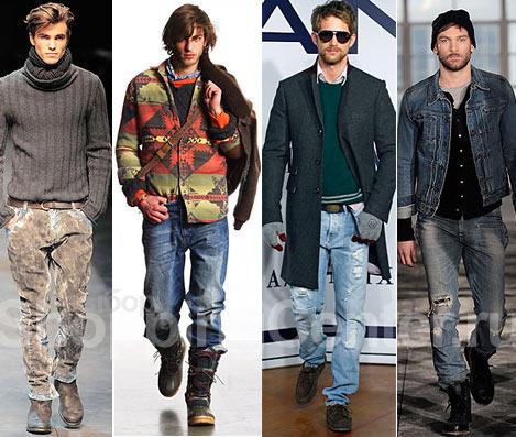Мужская мода - 2011, фото: джинсы Dolce & Gabbana, модные джинсы...