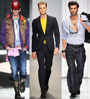 Мужская мода.  Модные тенденции Зима 2010 : Dsquared2, Salvatore...