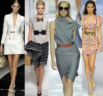 Обзор подиумов.  Модные тенденции, стиль.